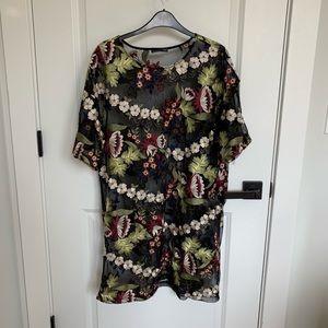 printed mesh ZARA dress